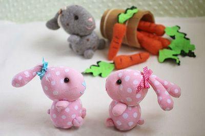 如何用袜子做兔子 废物利用手工制作大全图片