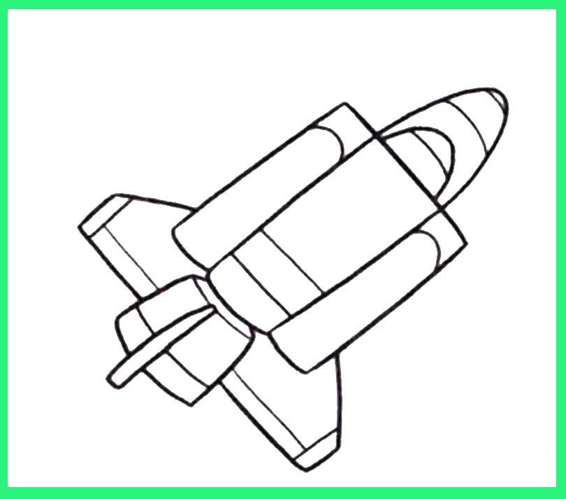 求航天飞机用铅笔画图