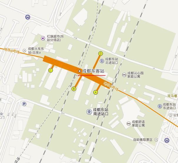 成都到火车东站坐几号线地铁?