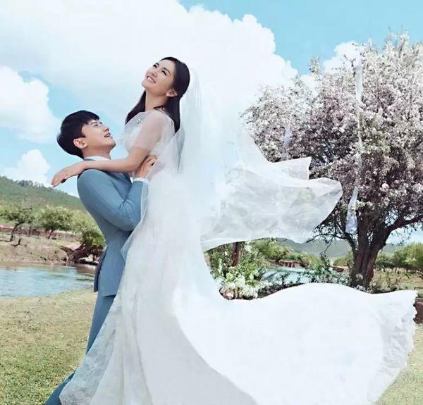 张杰谢娜结婚照片2016