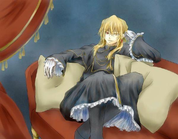 求手搭在椅背上的动漫人物图,有例图哦~ 最好是男的!