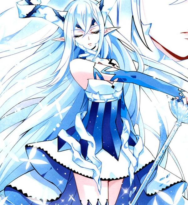 求几张蓝色系的动漫头像女生的多一点