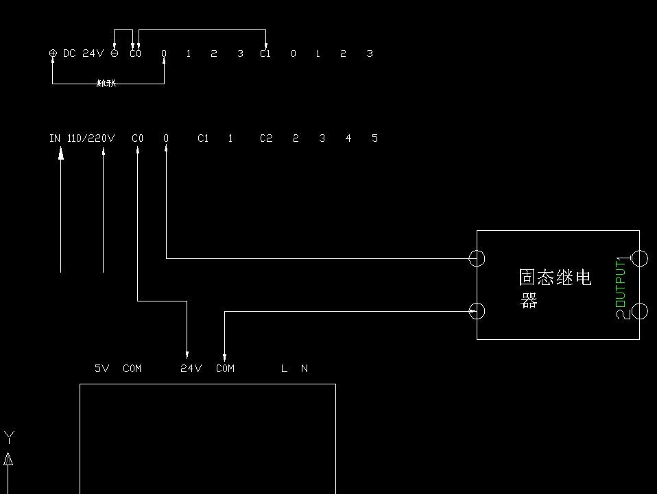 台达plc通过固态继电器控制电磁阀的接线图?