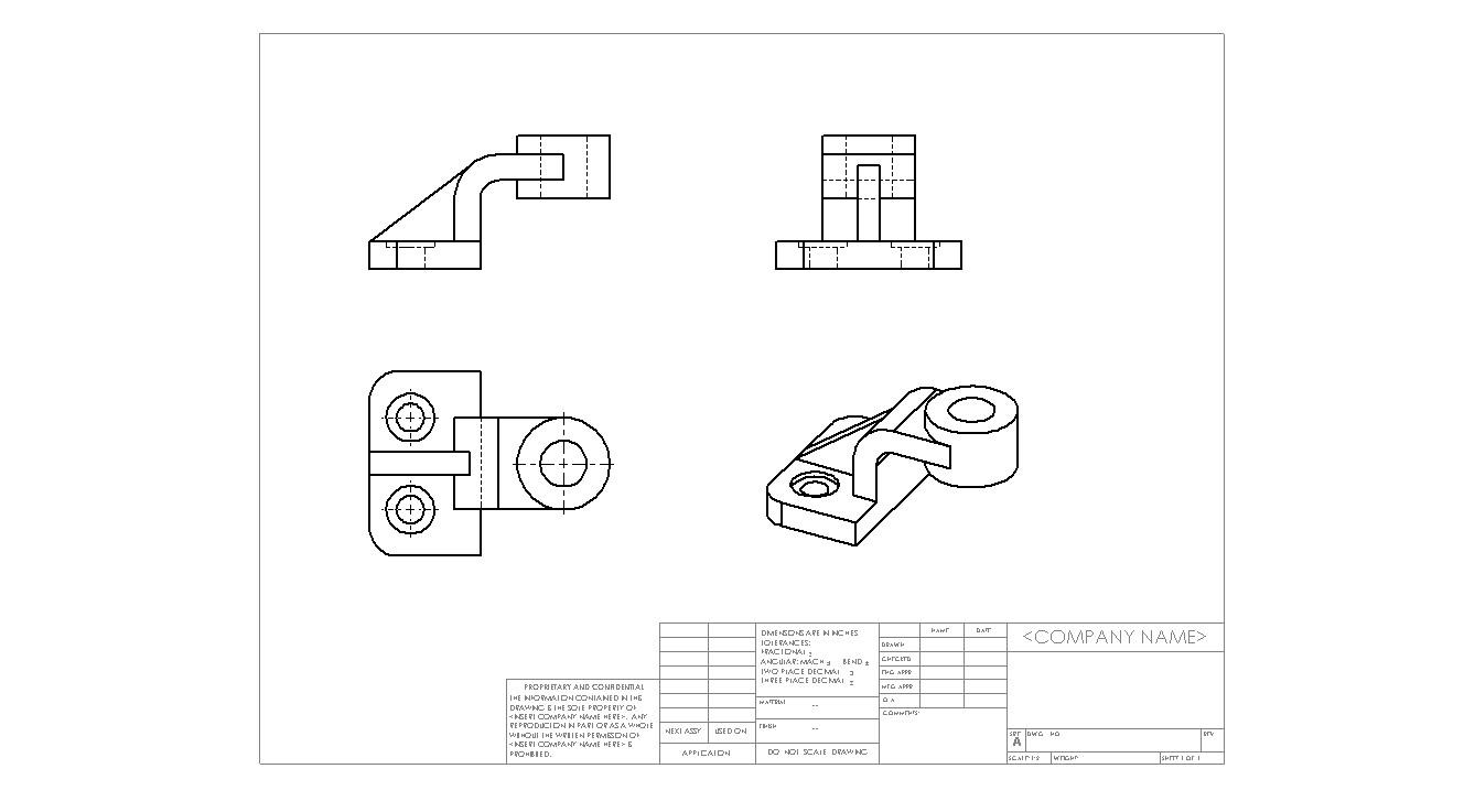 机械制图三视图,三视图怎么画啊?图片