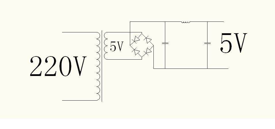 怎么实现三相电路转化成直流5v电压?