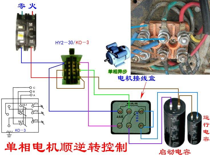 所附电机接线盒图片似乎倒置了,参考附图:  陈坚道 | 发布于2012-08-1