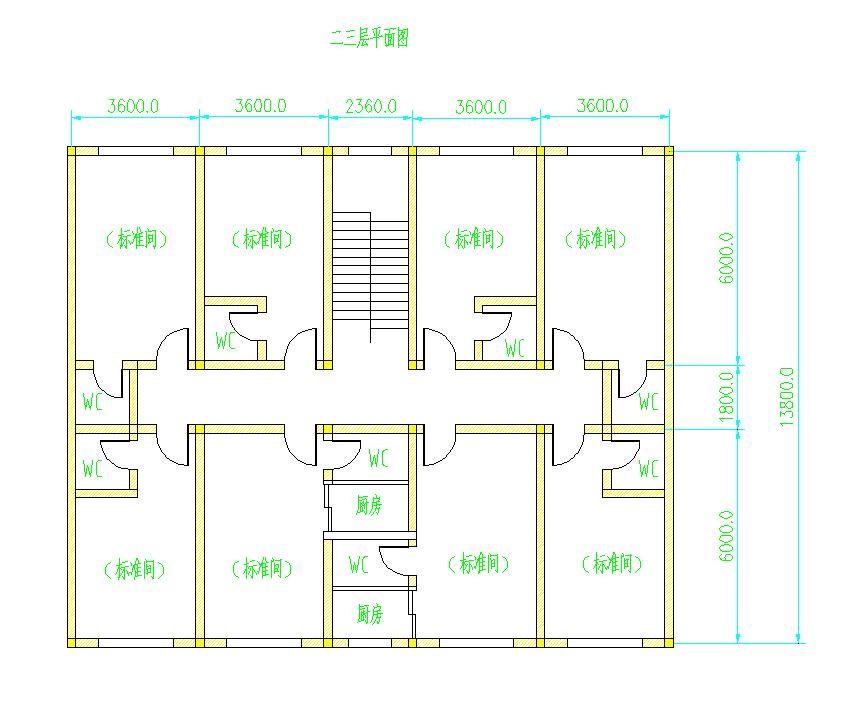 准备在农村盖房子,谁给做个详细设计施工图,房基地长17m,宽16m,三面为图片