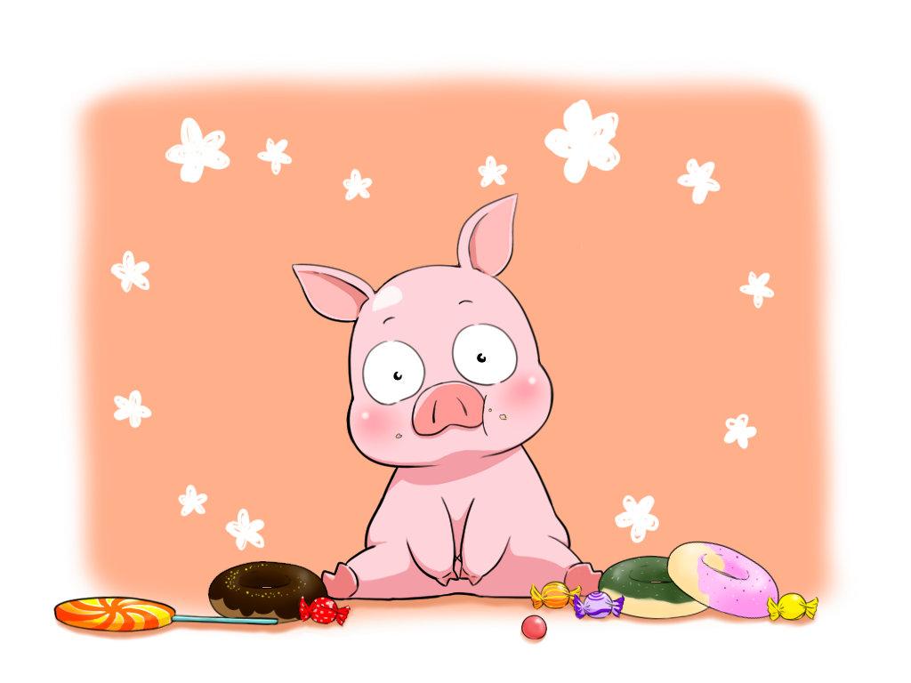 小猪猪可爱图片_百度知道