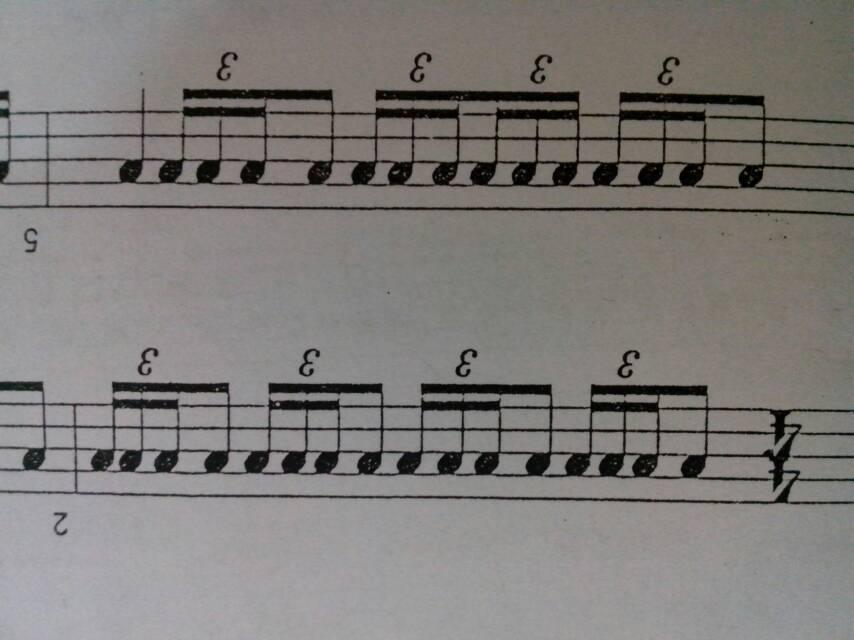 军鼓三连音鼓谱怎么看