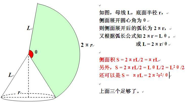 圆锥侧面积公式 跟圆心角有关的 急急急~~~_百度知道