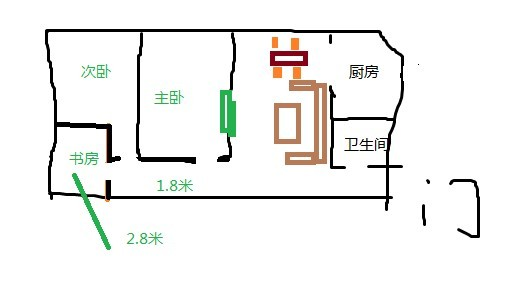 长方形房子结构图,不知道怎么设计.