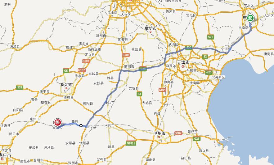 安国市最新交通规划图