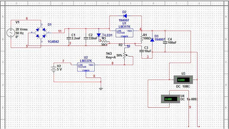 可调直流稳压电源0v起调电路对不对?