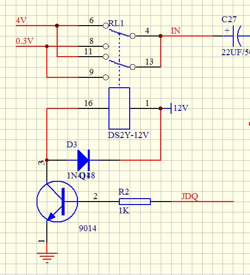 s8050直流放大电路图