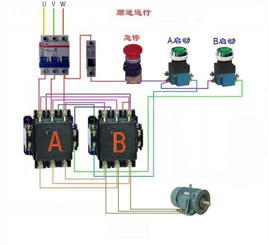 怎么接电动机正反转电路图?