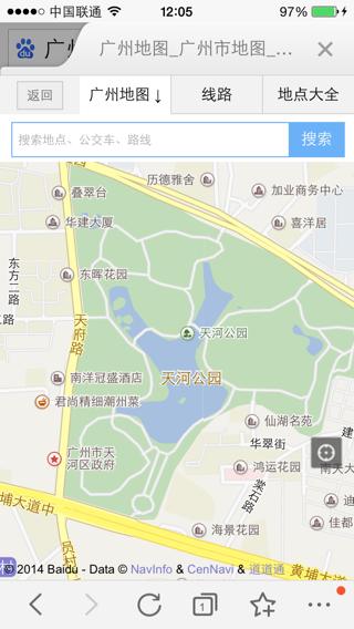 广州市天河区的地图