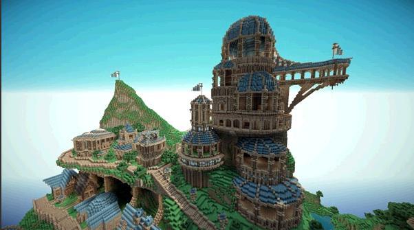 我的世界如何建城堡图片