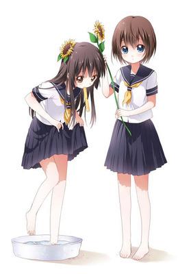 漫画版穿着校服的女生图片