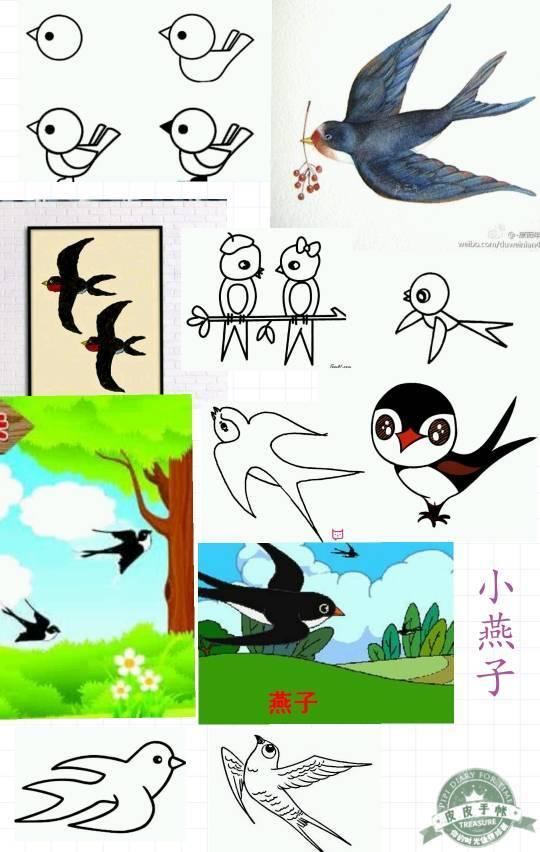 怎么画小鸟