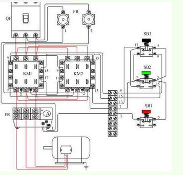 求接触器双重联锁正反转控制电路接线图!急.