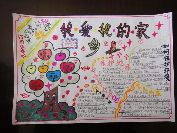 三年级小学生手抄报《我爱我的家乡》