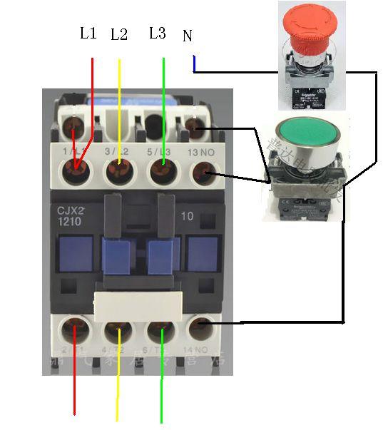 电炉子开关接线图