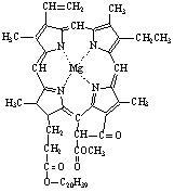 叶绿素a分子式:c55h72o5n4mg;叶绿素 b分子式:c55h70o6n4mg.图片
