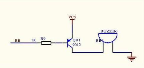 5v有源蜂鸣器电路_是电路问题吗,大神指点一下,三极管我用的8050,蜂鸣器是用的有源的