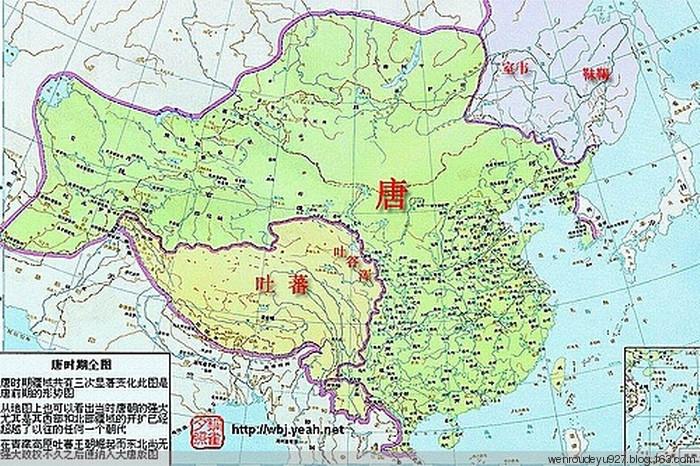 中国唐朝的地图
