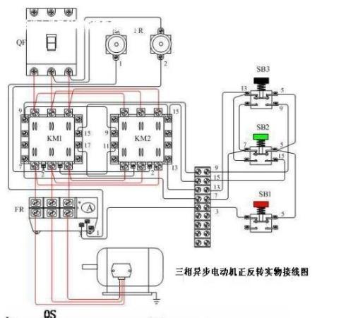 三相电三个按钮的开关盒怎么接线