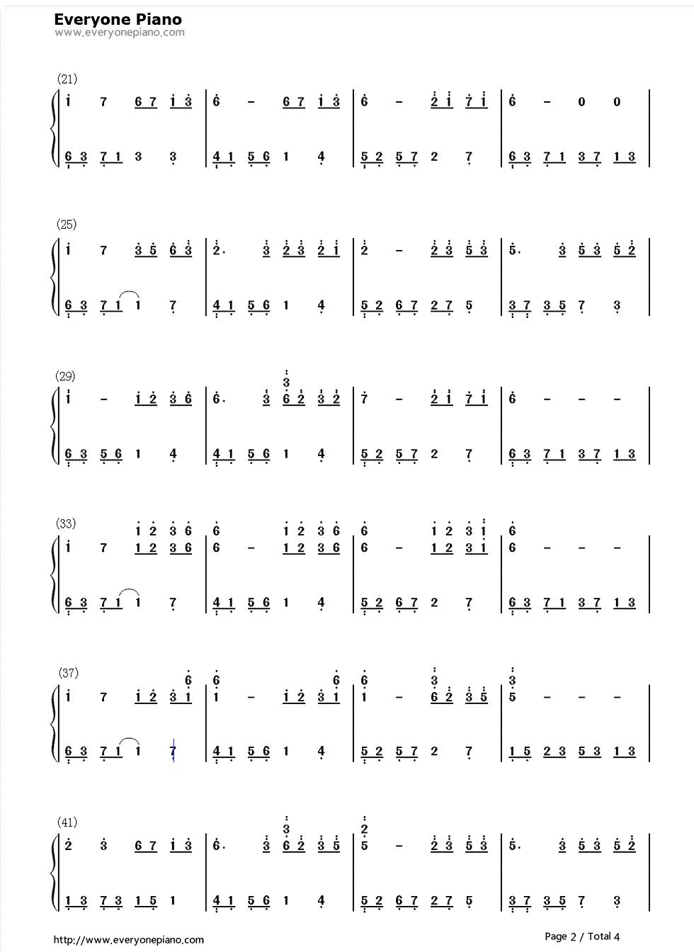 夜的钢琴曲5双手简谱 谢谢图片