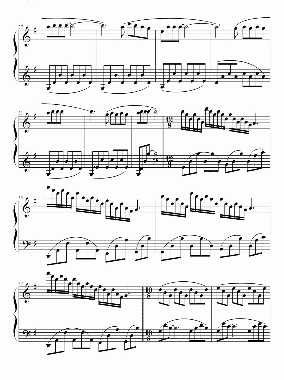 爱的纪念钢琴简谱
