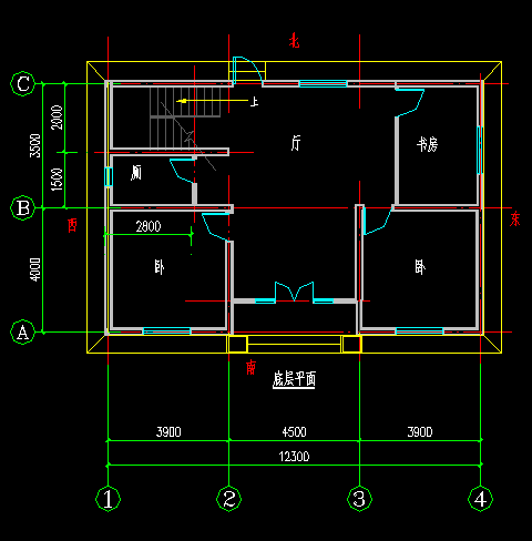 6x15米前后采光自建房设计图