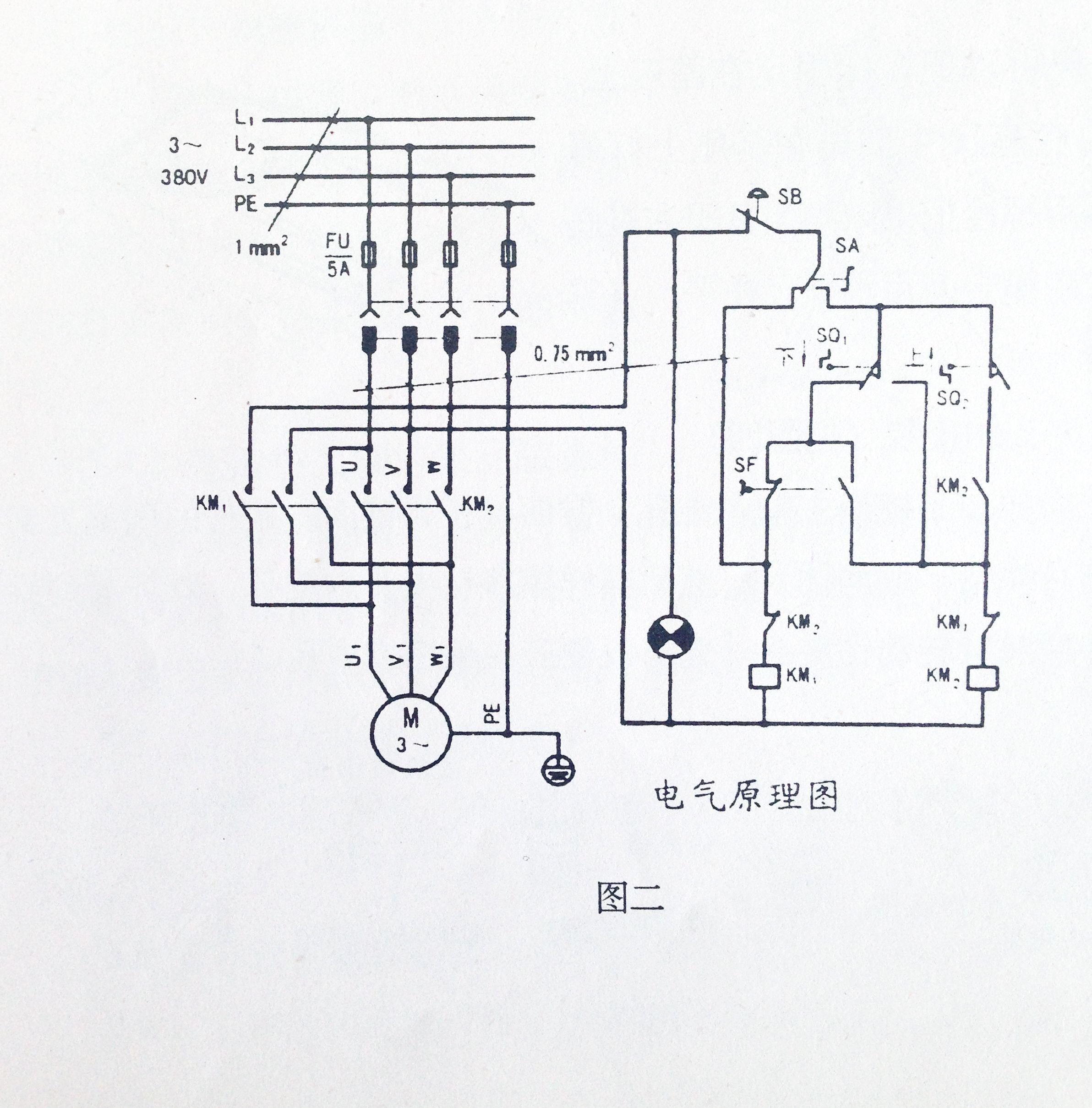 这是个正反转电路,还有两个限位开关应该是类似小车的往返运动控制,sb