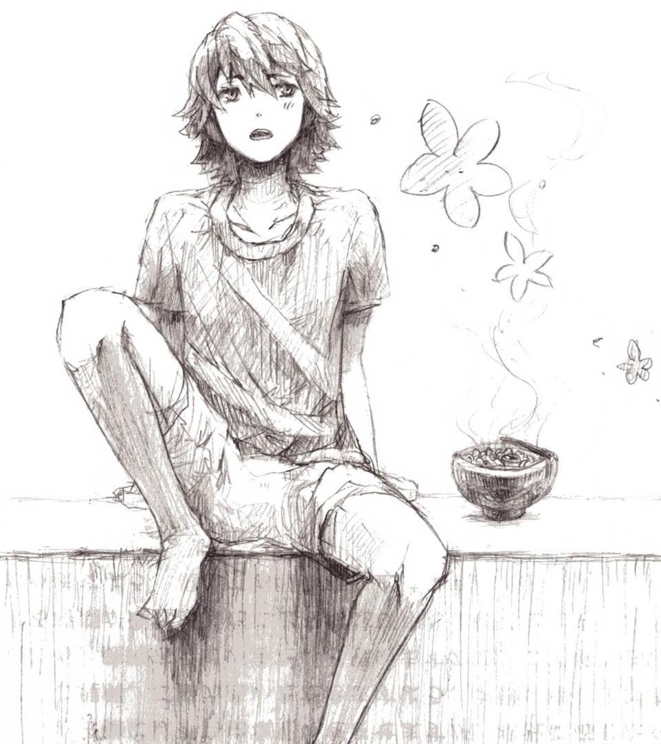 情头单人一人一张手绘