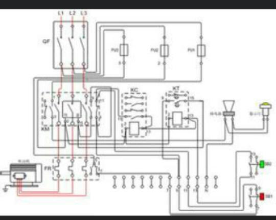 和电铃内部接线图