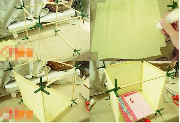 筷子怎么做灯笼