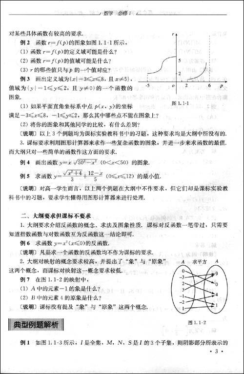 高中数学的课程大纲图片