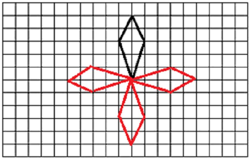 利用平移和旋转,对称设计一幅美丽的图案图片