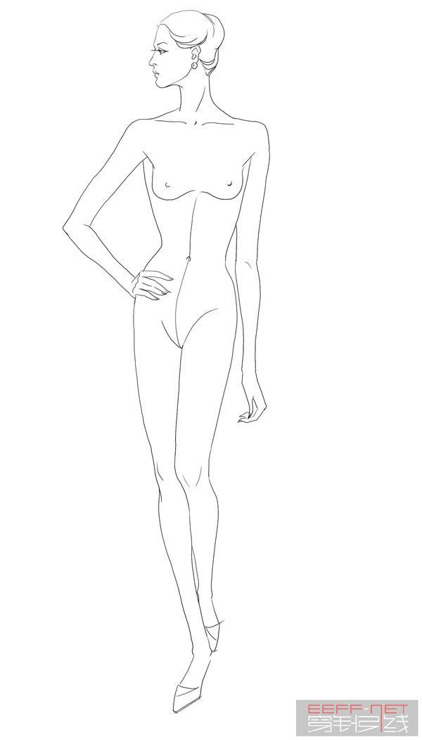 服装设计图的人体比例是多少?学设计的近