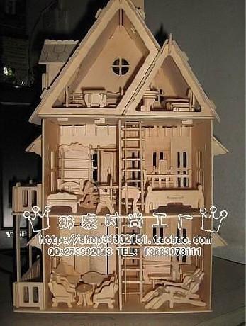 求~~~手工制作花园别墅模型的图纸