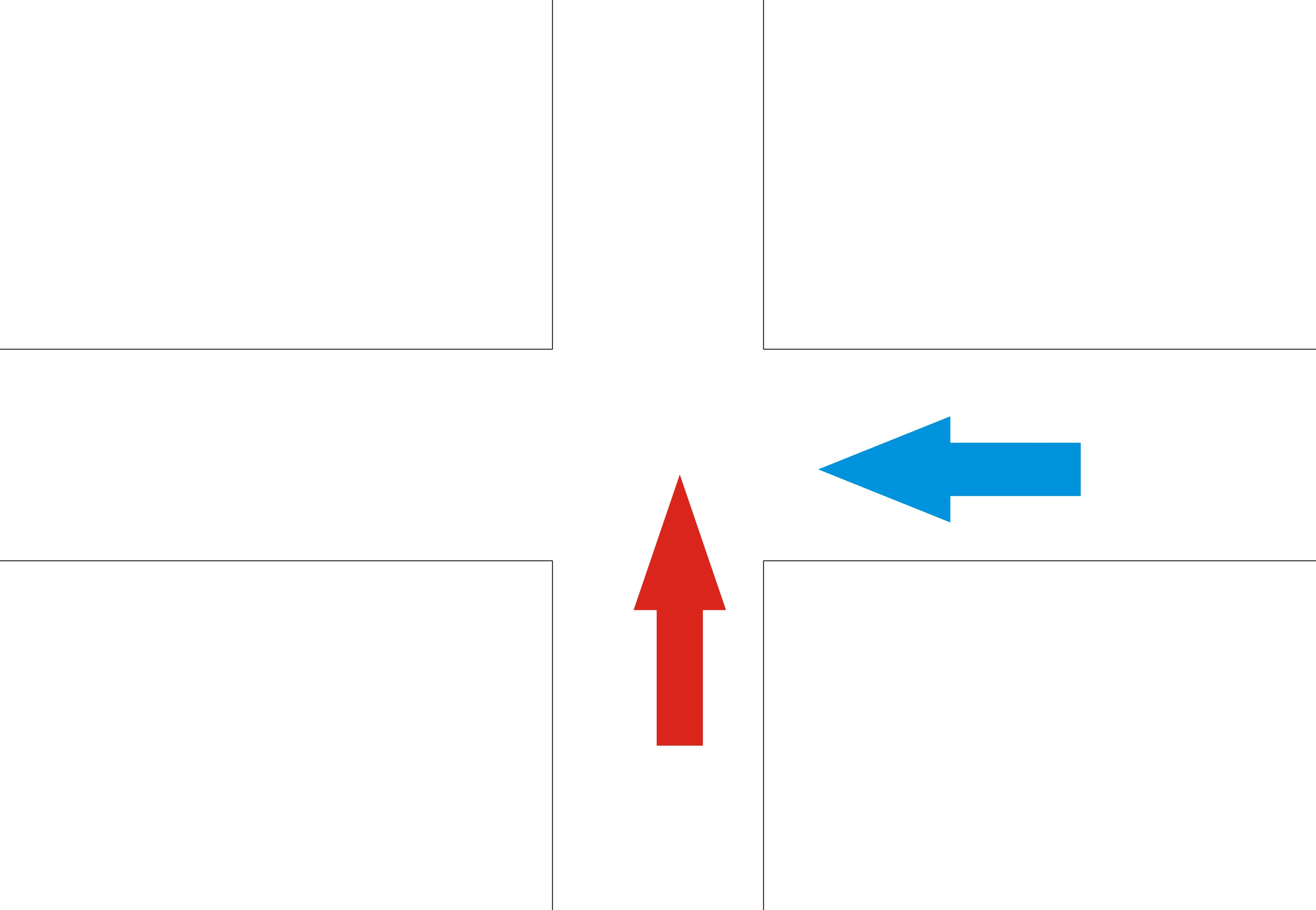 过的是一个没有红绿灯的十字路口,我已经减速通过,但对方开得很快