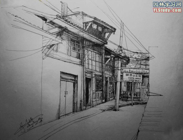 怎么画房屋设计图 求图 图纸要像素描的