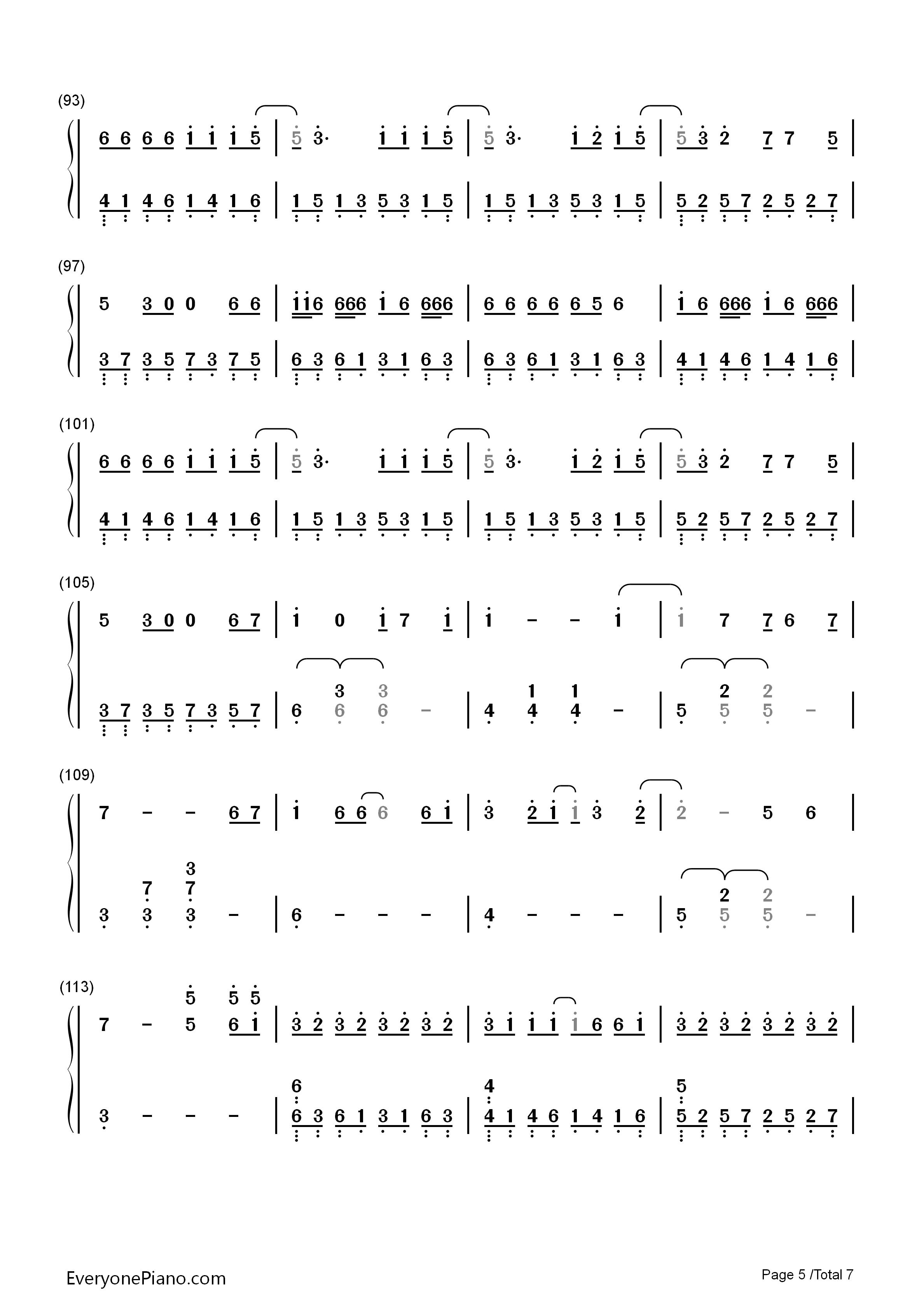 reset钢琴左手右手数学简谱
