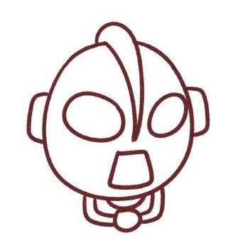 画奥特曼简笔画步骤5:左边要画一只大手,先画大拇指,画大一点,位置要
