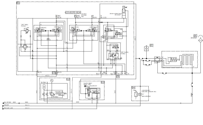 舒勒压力机液压离合制动器液压图分析:需要详细油路走向.图片