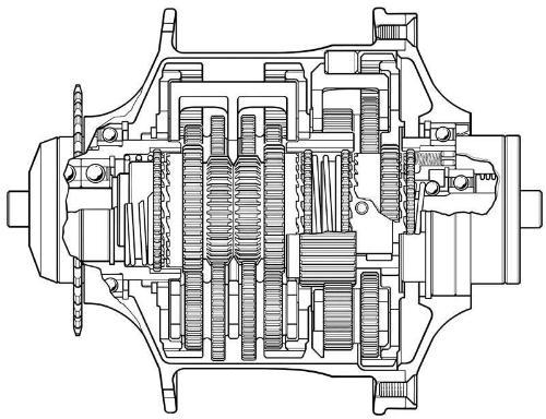 自行车内变速器结构图