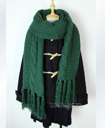 这个围巾织法是什么花样的?