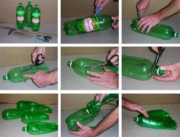 用饮料瓶及瓶盖制作简单的手工小制作,该怎么弄?