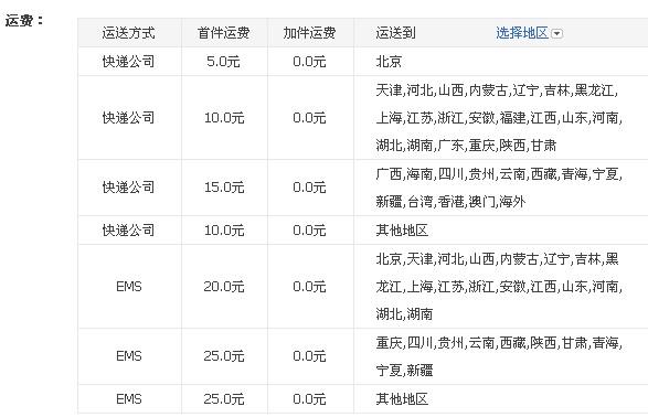 北京淘宝卖衣服的卖家在运费模板应该怎么设置